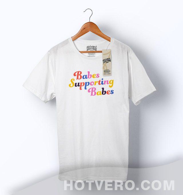 Cheap Babes Supporting Babes Slogan T Shirt