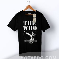 Cheap WHO Birtish Tour 1973 Classic Concert T Shirt