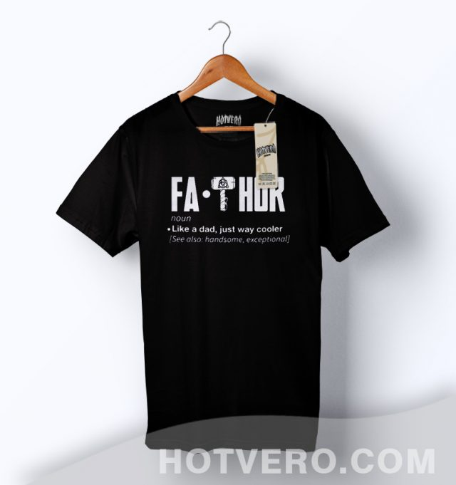 FaThor Marvel Like A Dad Meaning T Shirt Father Day Gift