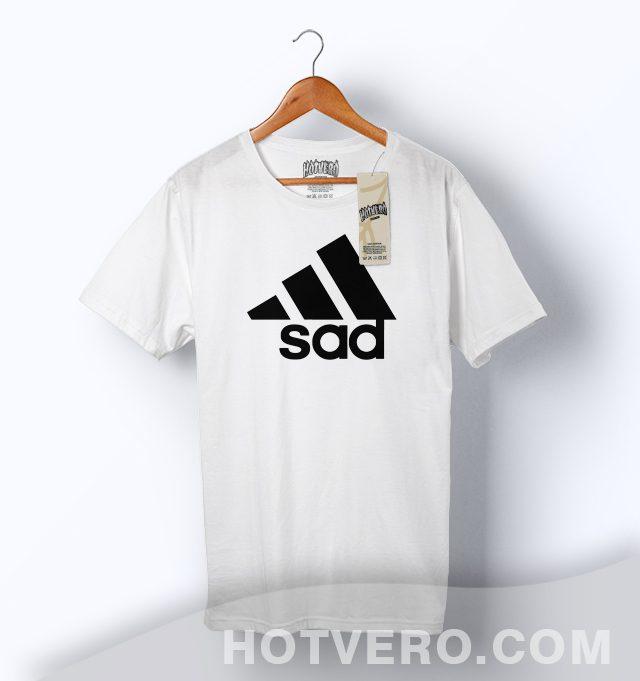 62c2e33860 Funny Sad Adidas Inspired Parody T Shirt - HotVero