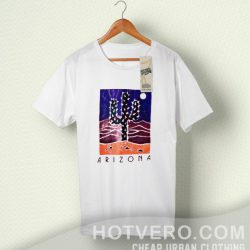 Arizona Cactus Coral Vintage Summer T Shirt