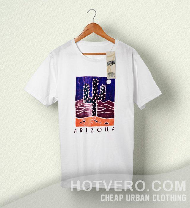 Arizona Cactus Coral Vintage Summer T Shirt