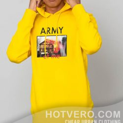 Army Of Me Hip Hop Yellow Unisex Hoodie