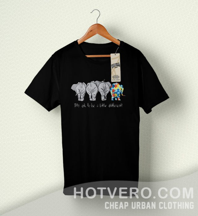 Autism Elephant it's ok to be a little Cute T Shirt