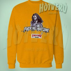 Awesome Thrasher Trash Sweatshirt Urban Fashion Collaboration