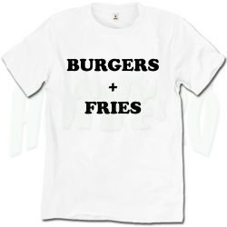 Burgers and Fries Favorite Food T Shirt