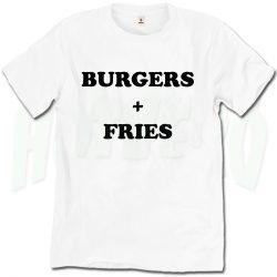 Burgers and Fries Favorite Food T Shirt