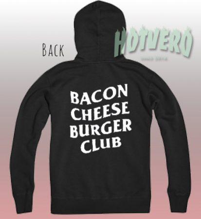 Cheap Bacon Cheese Burger Club Cool Hoodie