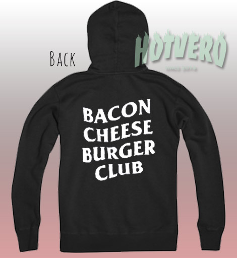 Cheap Bacon Cheese Burger Club Cool Hoodie
