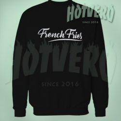 Cheap French Fries Unisex Black Sweatshirt