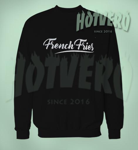 Cheap French Fries Unisex Black Sweatshirt