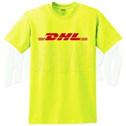 DHL Express Shipping Yellow Top T Shirt