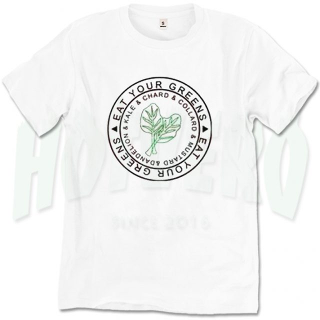 b81668e951fab Eat your Greens Vegetable Veganism Slogan T Shirt