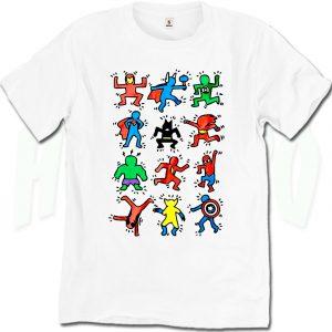 Funny Marvel All Superhero American Pop Art T Shirt