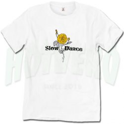 Slow Dance Vintage Rose T Shirt For Teen