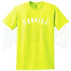 Sunrise Over The Rainbow Summer T Shirt For Teen