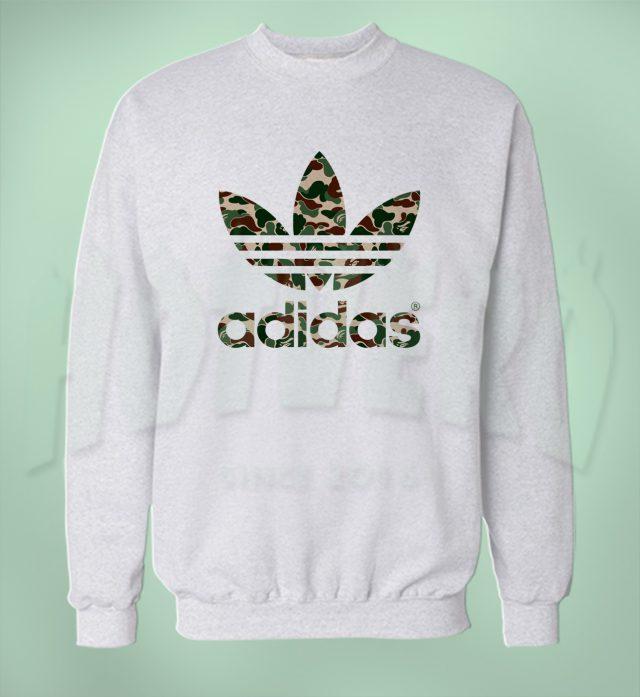 Adidas Bape Camo Unisex Sweatshirt Urban Fashion Collabs