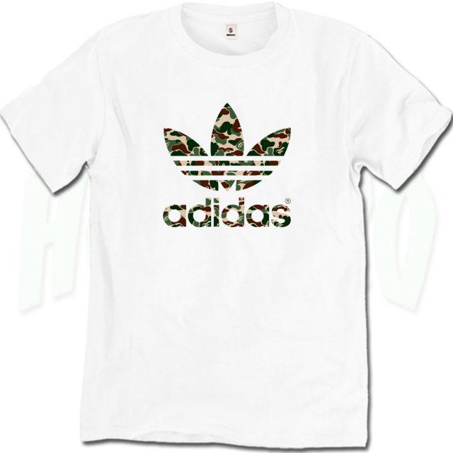 Bape Adidas Adicolor Camo Urban T Shirt