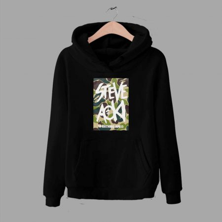 Bape Steve Aoki Camo Collaboration Pullover Hoodie