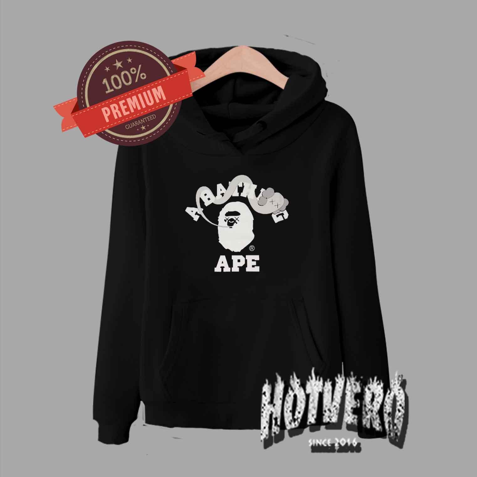 Bape X Kaws >> Bape X Kaws Pullover Hoodie Urban Fashion Collaboration Hotvero Com
