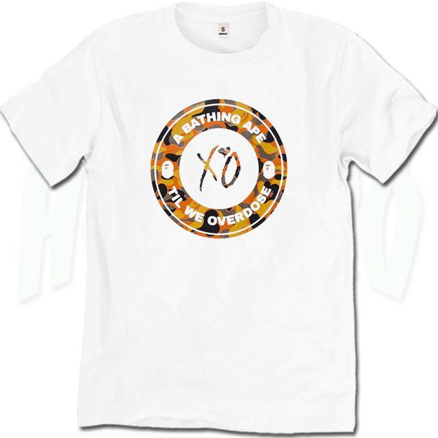 Bape X XO Busy Works Till We Overdose T Shirt