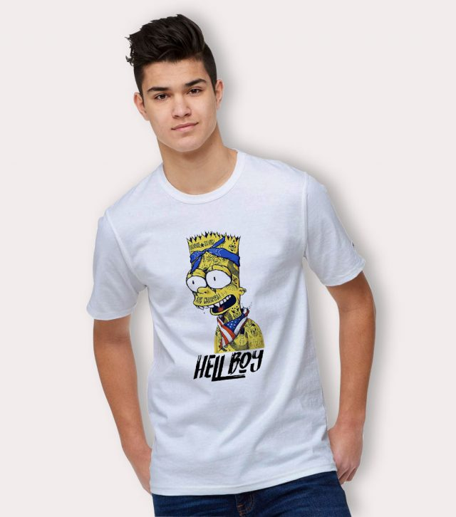 Bart Simpson Hell Boy Gangsta Urban T Shirt