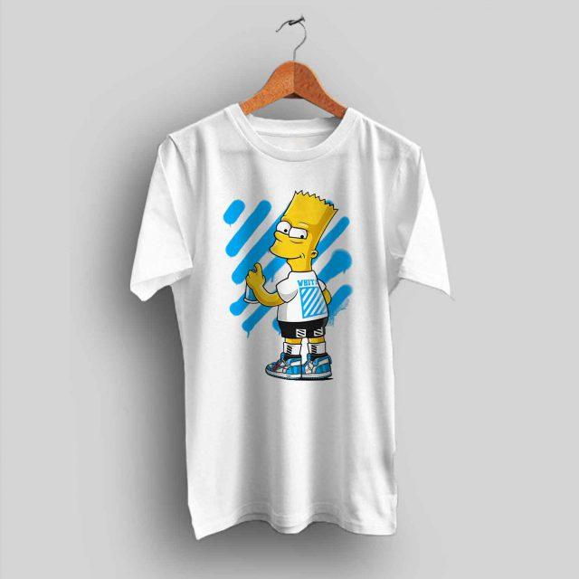 Bart Simpson Off White Urban T Shirt