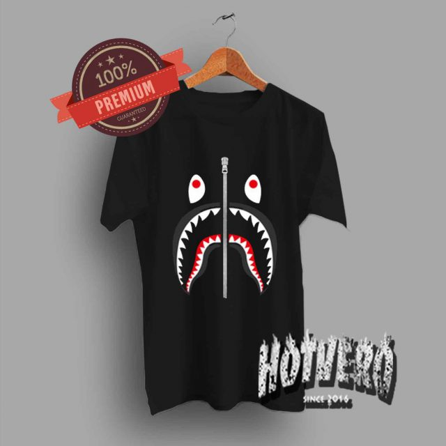 Cheap Bape Shark Zipper T Shirt