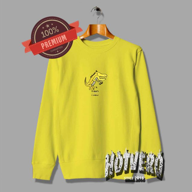 Cheap Dinosaur Tino Vintage Yellow Sweatshirt
