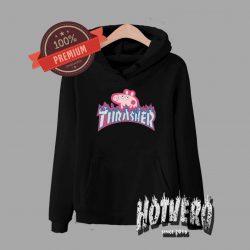 Cheap Peppa Pig X Thrasher Parody Pullover Hoodie