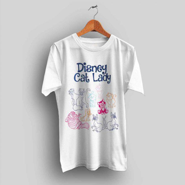 Disney Cat Lady Cute T Shirt for Women