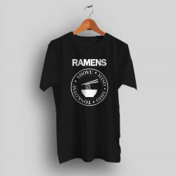 Funny Japanese Ramen Ramones Parody T Shirt