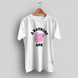 Funny Peppa Pig X Bape Shark T Shirt Collaboration