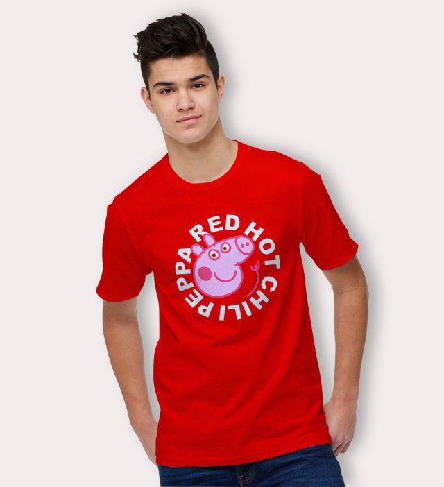 Funny RHCP Red Hot Chilli Peppa Pig T Shirt