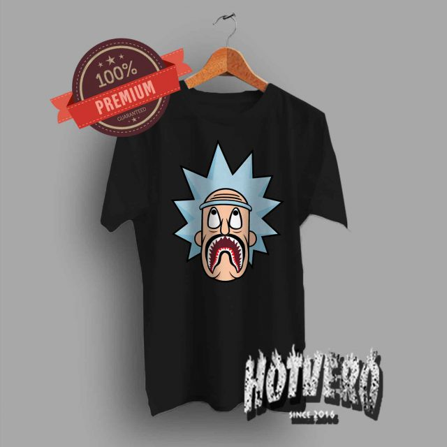 Funny Rick Morty Bape Shark Urban T Shirt