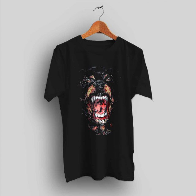 Givenchy Rottweiler Dog Black T Shirt