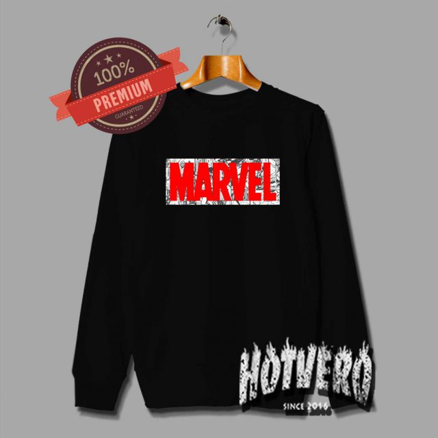 Marvel Comic Characters Crewneck Sweatshirt