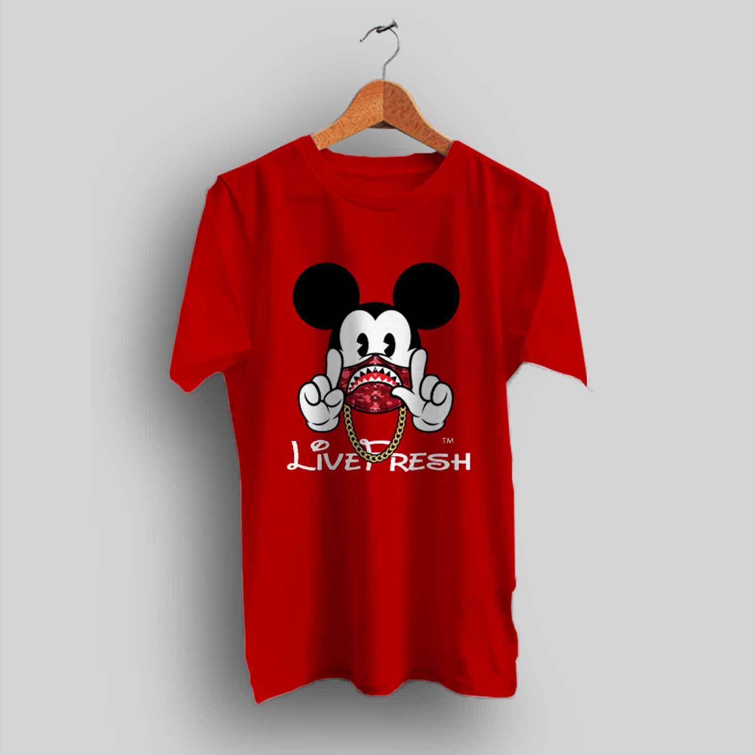 4430aa26 Mickey Mouse X Bape Live Fresh Urban T Shirt - HotVero.com