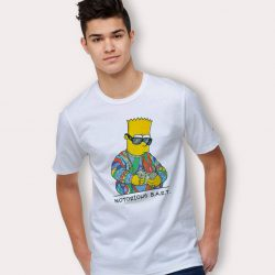 Notorious Bart Simpson Big Biggie Smalls Parody T Shirt