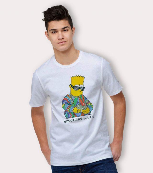 Notorious Bart Simpson Big Biggie Smalls Parody T Shirt