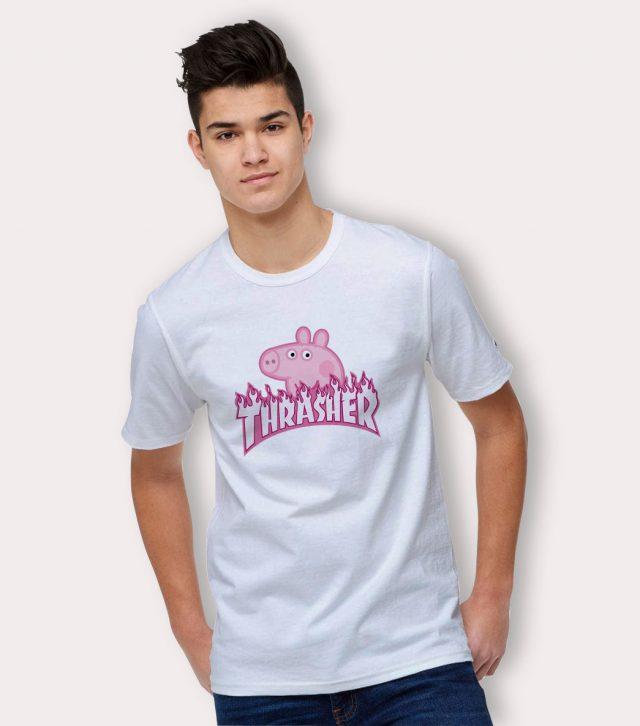 Peppa Pig Thrash Skateboard Parody T Shirt