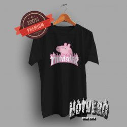 Thrasher Peppa Pig Pink T Shirt