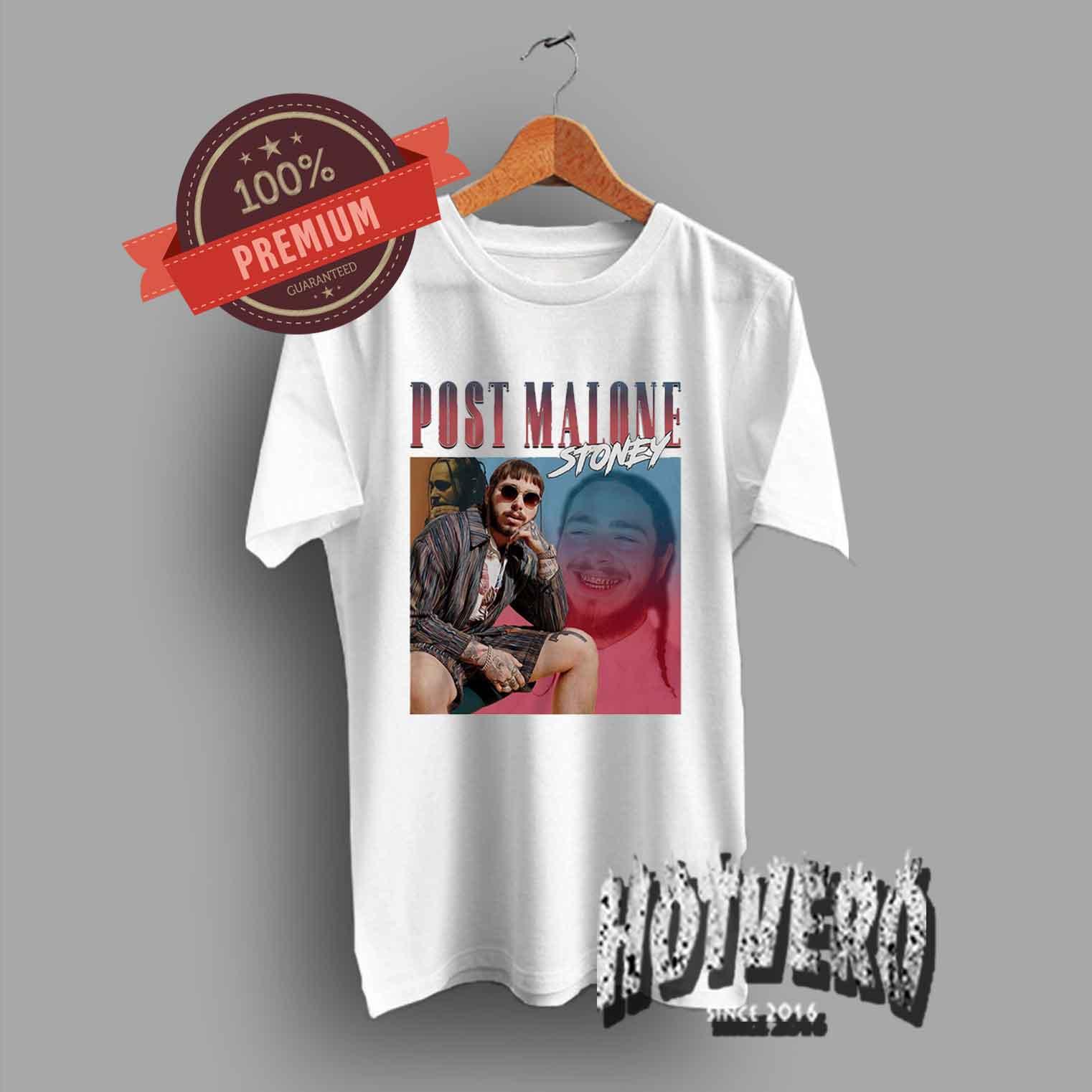 709642047 Post Malone Stoney Tour T Shirt Urban Streetwear