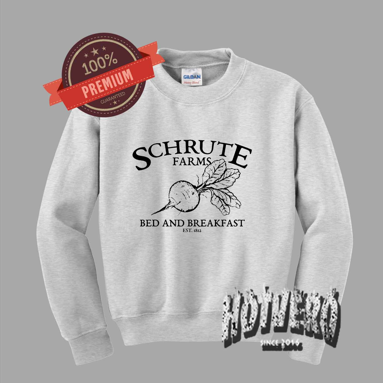 26309a364 Schrute Farms Bed And Breakfast Crewneck Sweatshirt by Hotvero.com
