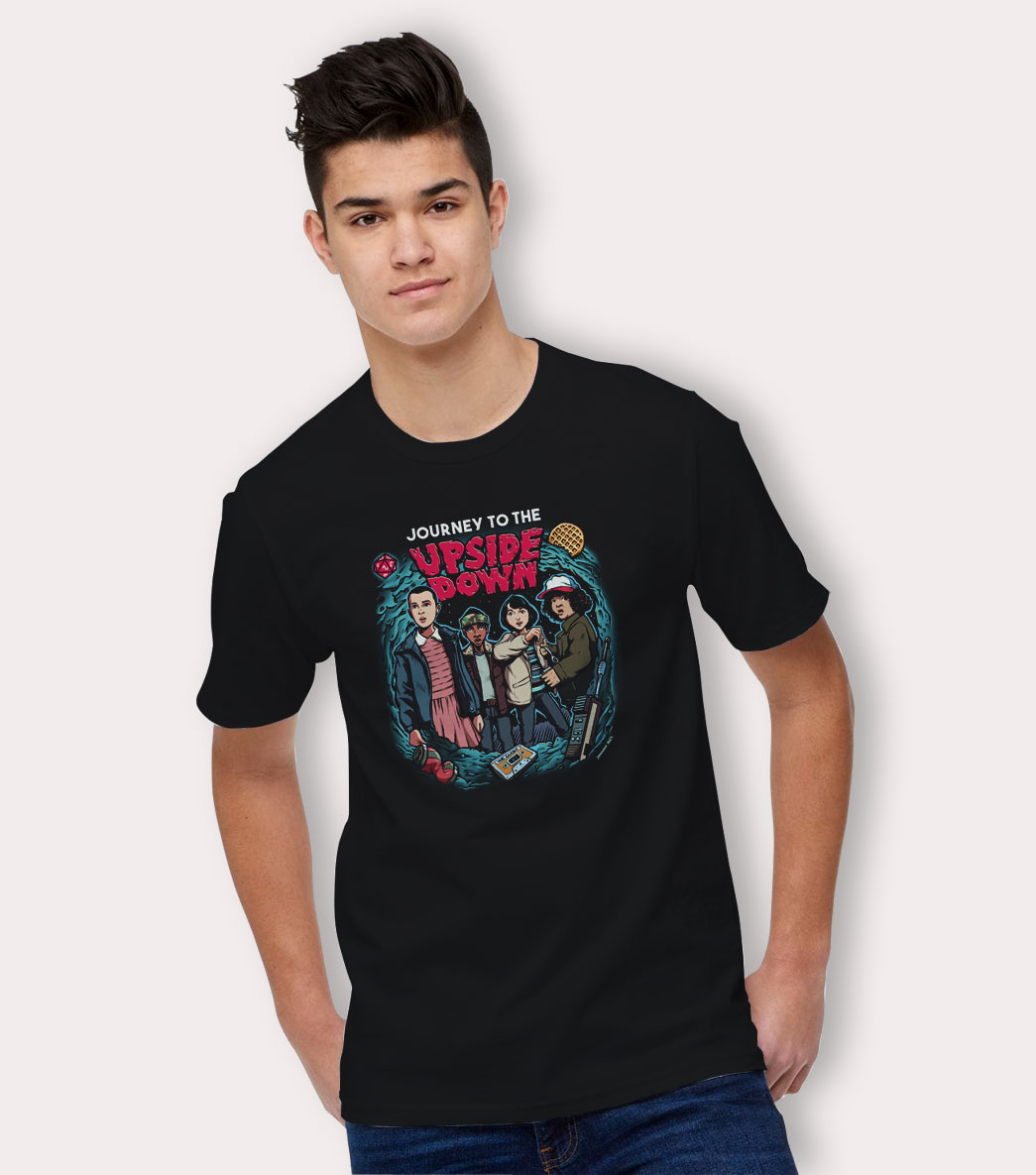 c5040d58 Stranger Things T Shirt Journey To The Upside Down Tee By HotVero