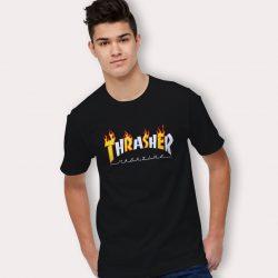 Thrasher New Flame T Shirt Design Urban Streetwear