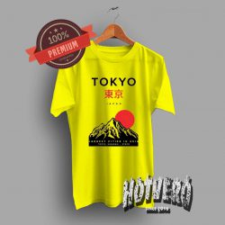 Tokyo Japan Mountain Largest Cities In Asia Yelliow T Shirt