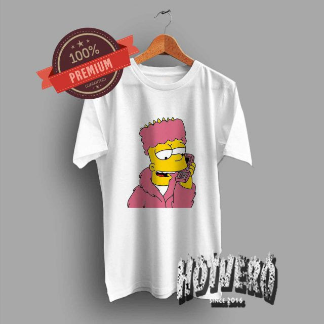 Vintage Bart Simpson Cozzy Telephone T Shirt