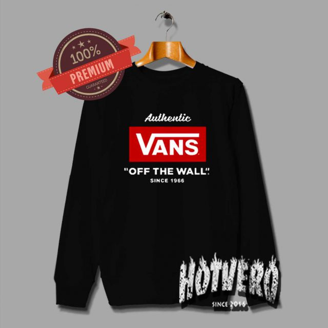 Vintage Vans Off The Wall Authentic 1966 Sweatshirt
