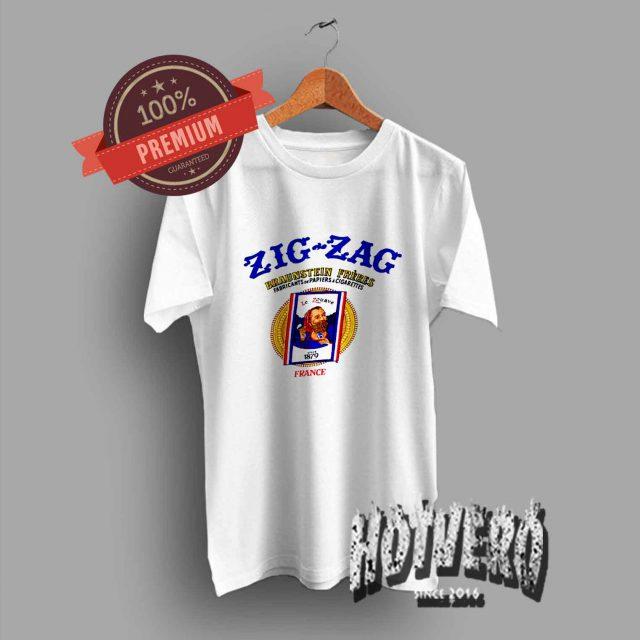 Vintage Zig Zag Braunstein Freres Papiers Cigarettes T Shirt